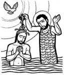 세례받는 예수님
